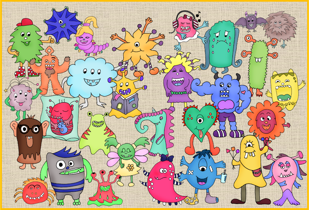 Monster Im Worksheet Crafter Frau Locke