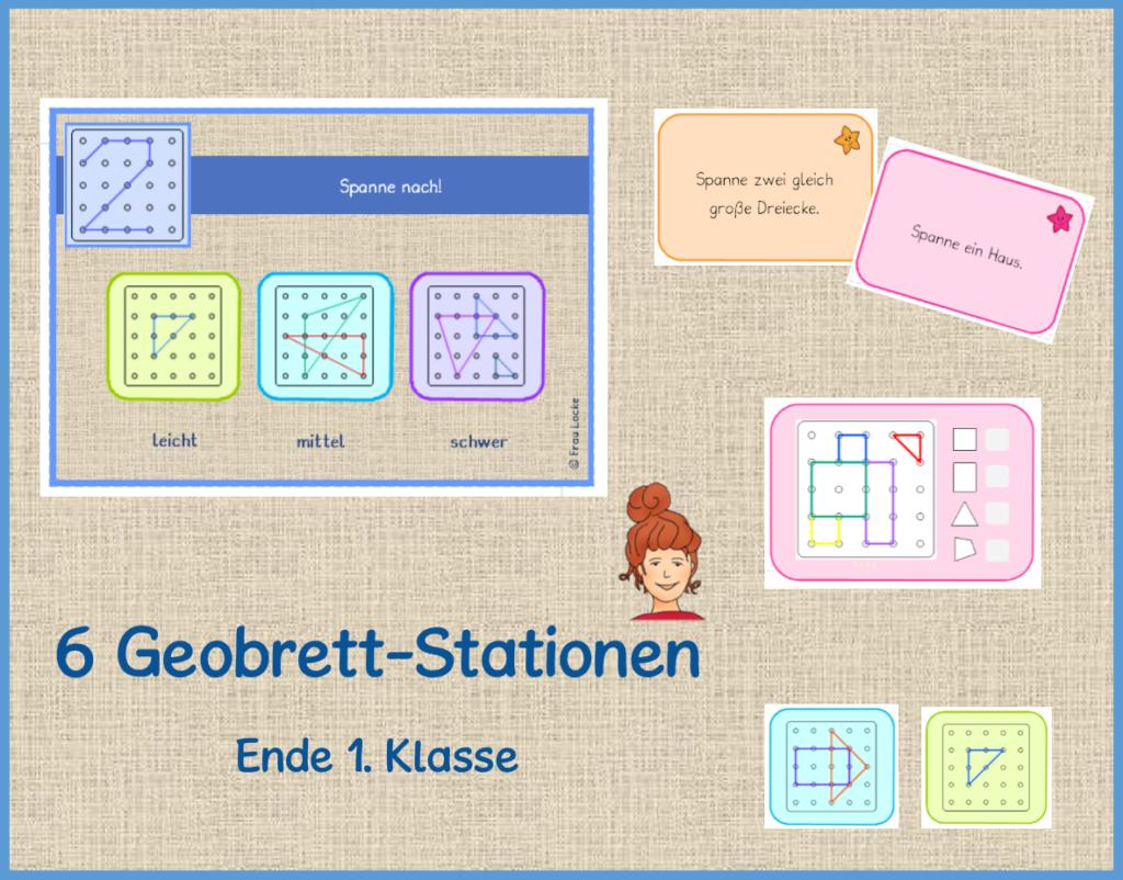 Geobrett Stationen 1. Klasse - Frau Locke