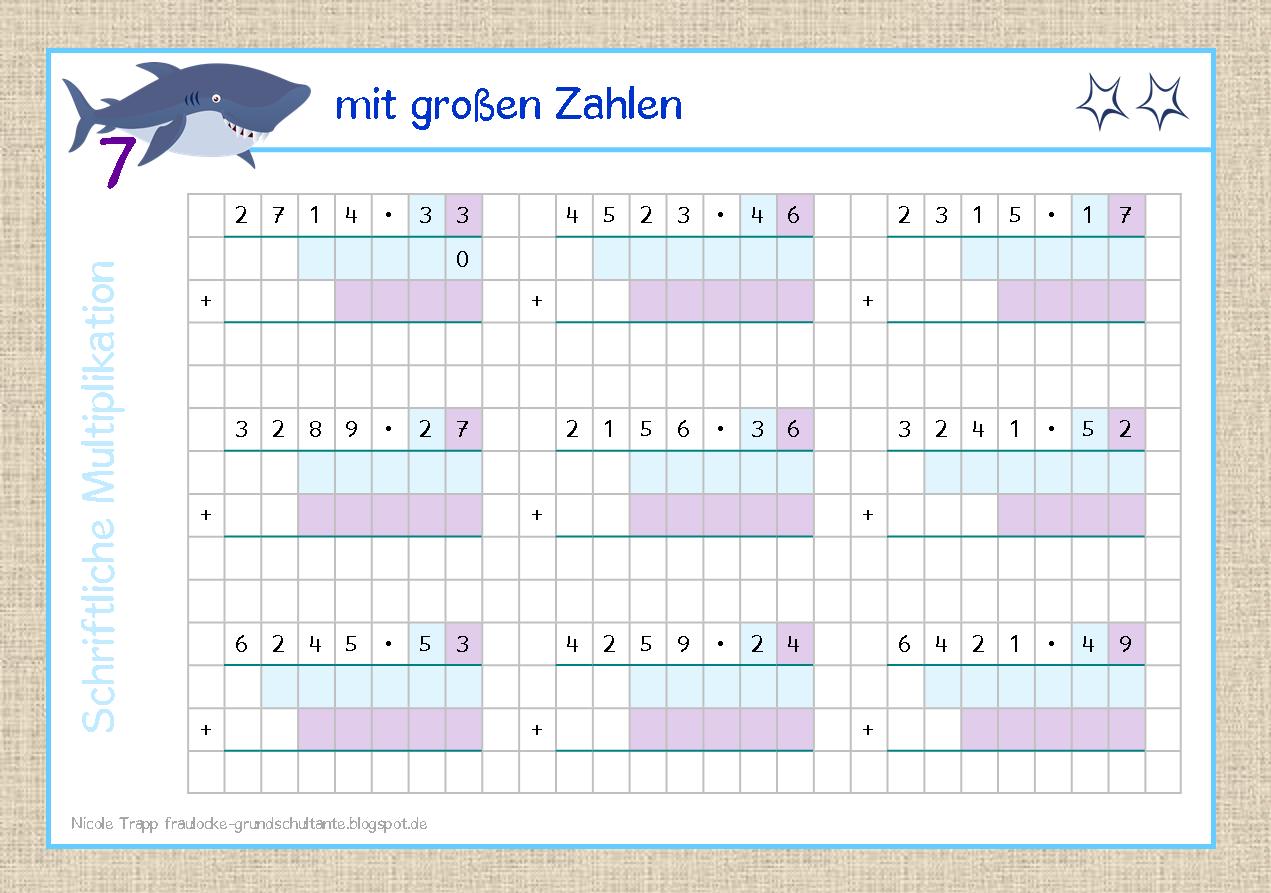 Großzügig 5Klasse In Mathe Multiplikation Arbeitsblatt Ideen - Mathe ...