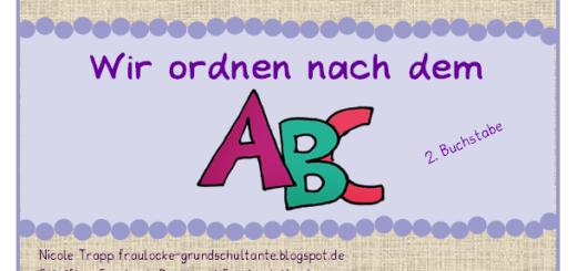 ABC und Schreibschrift Buchstaben - Aushang - Frau Locke