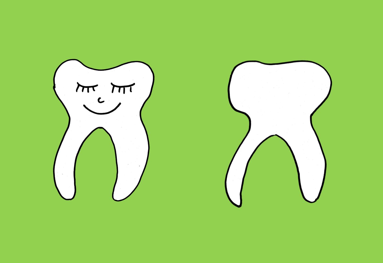 Was ist gesund/ungesund für die Zähne? Vorlage für ein Plakat - Frau ...